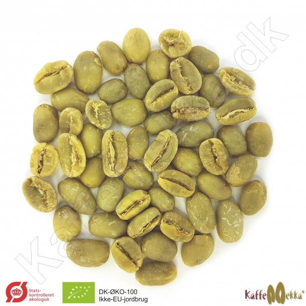 Etiopien Yirgacheffe Økologisk/Fairtrade, Grønne Bønner 1000 gram