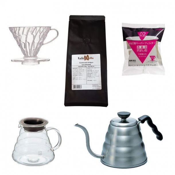 Hario V60 Startpakke 02 m. Kaffe