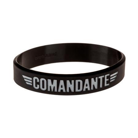 Comandante Wrist Band 100% Silicon Black