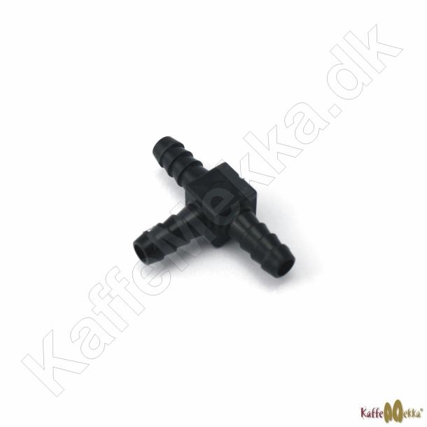 T-stykke til Slange 4mm Sort