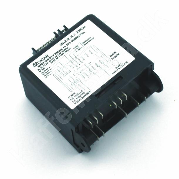 Kontrolmodul for vandstand, GICAR 30µZ 3L S.T. 230Vac