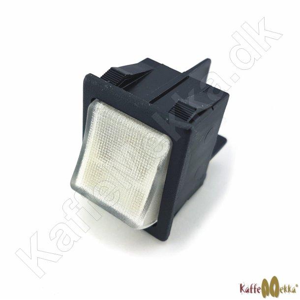 Nuova Simonelli Bipolar Kontakt Hvid m/ Lys 250VAC/16A