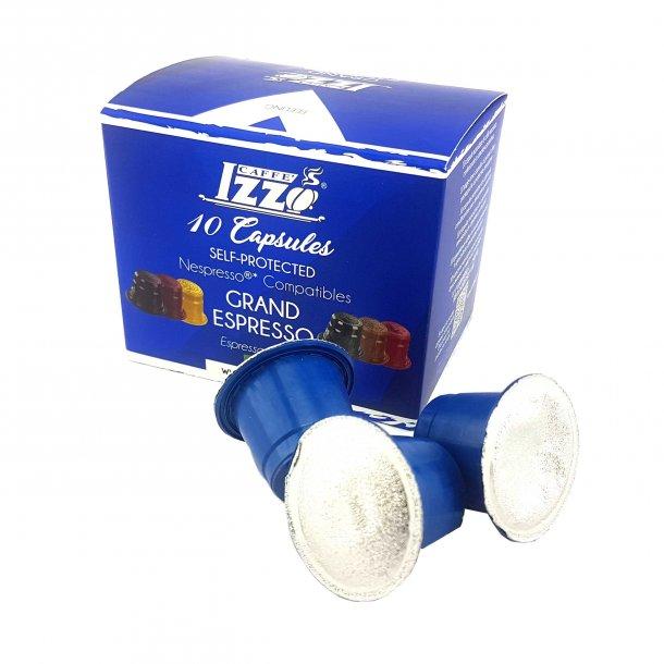 Izzo Grand Espressokaffe 10 Kapsler - Nespresso Kompatible