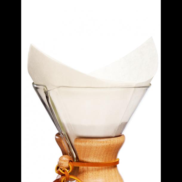 Chemex Kaffefiltre Firkantede 5-13 Kopper 100 stk (FS-100)