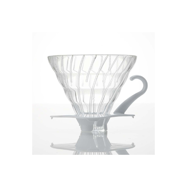 Hario V60 Filterholder Glas m/Hvid Hank 2-kopper VDG-02W