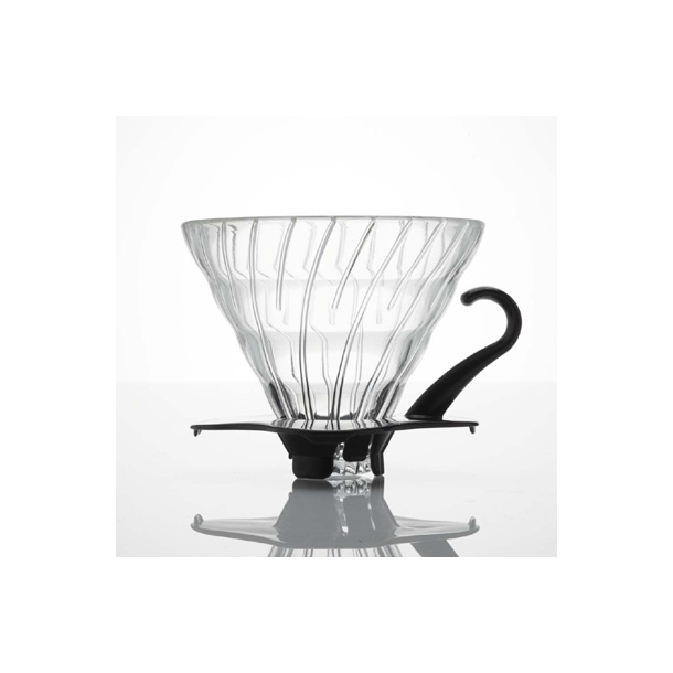 Hario V60 Filterholder Glas m/Sort Hank 2-kopper VDG-02B