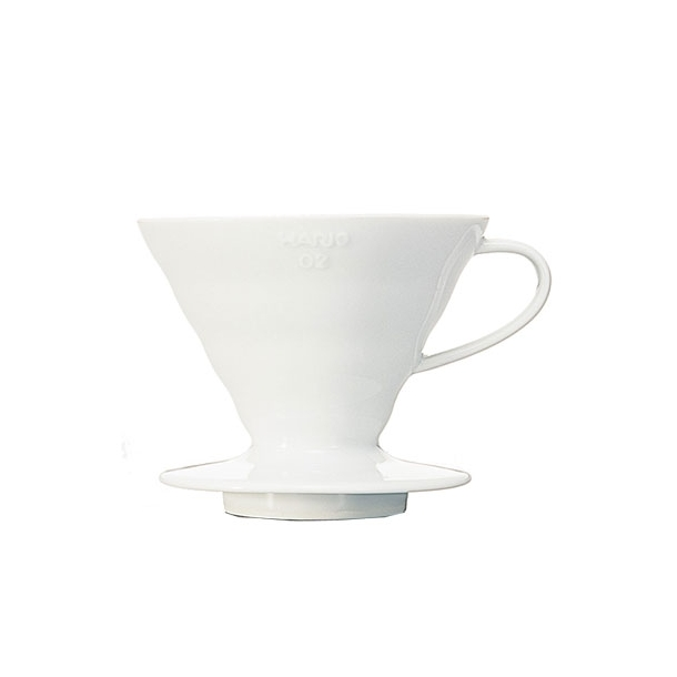 Hario V60 Filterholder Hvid Keramik 2-kopper VDC-02W
