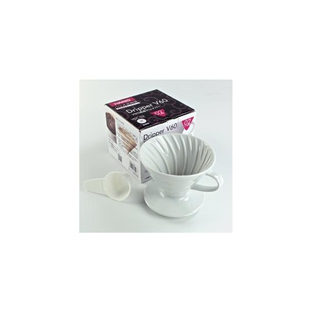 Hario V60 Filterholder Hvid Keramik 1-kop VDC-01W