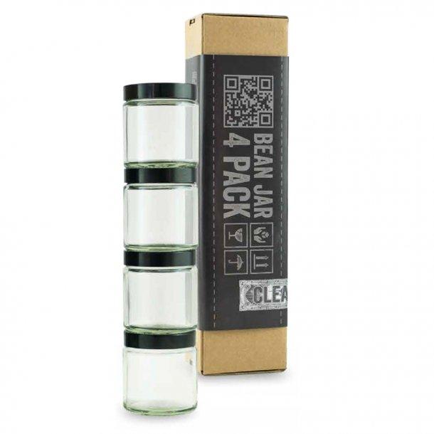 Comandante Bean Jar Klart Glas 4-pack