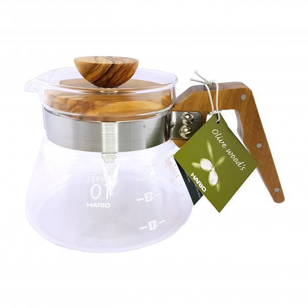 Hario Coffee Server Glaskande Oliven 400ml VCWN-40-OV