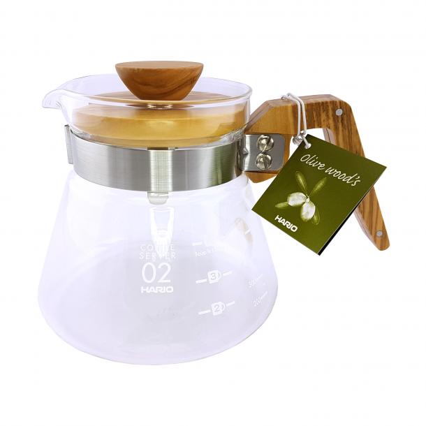 Hario Coffee Server Glaskande Oliven 600ml VCWN-60-OV