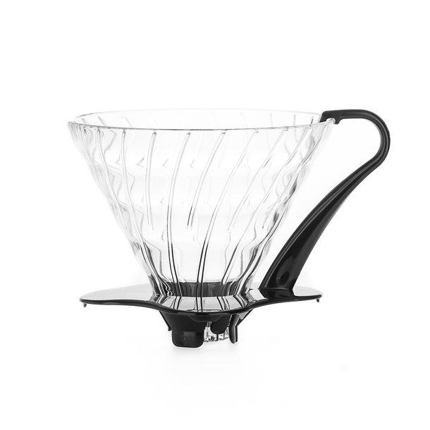 Hario V60 Filterholder Glas m/Sort Hank 3-kopper VDG-03B
