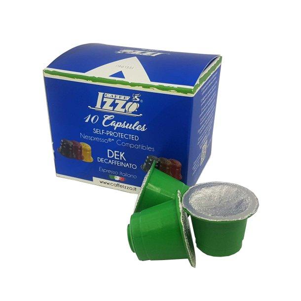 Izzo Koffeinfri Espressokaffe 10 Kapsler - Nespresso Kompatible