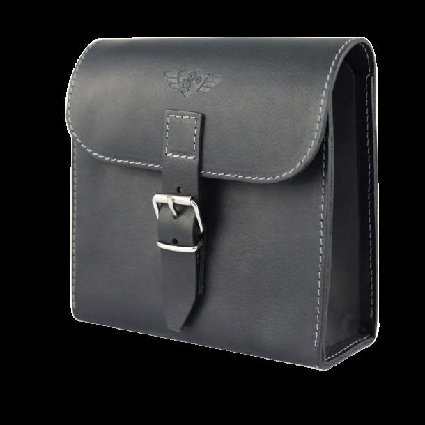 Comandante Leather Tool Bag Black - Sort Lædertaske