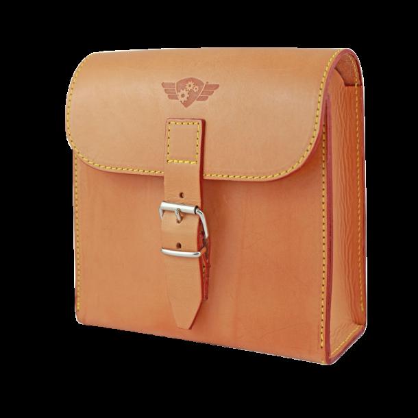 Comandante Leather Tool Bag Cognac - Sort Lædertaske