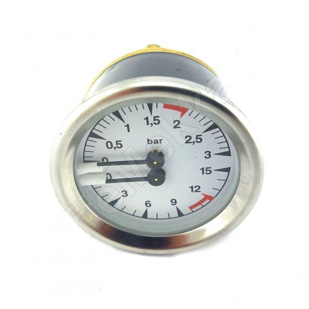 Dobbelt Manometer Hvid (0-3bar, 0-15bar)