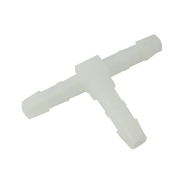 Ascaso T-stykke til Slange Hvid 4mm