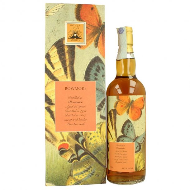 Antique Lions of Spirits Bowmore 25 års Whisky