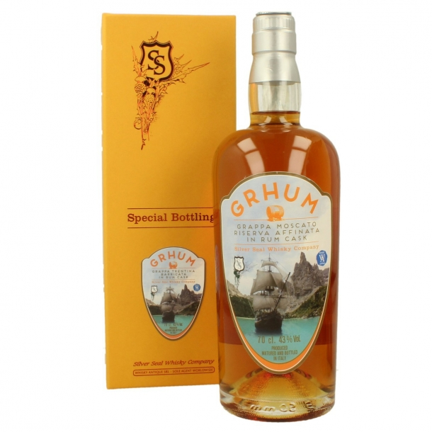 Grhum Grappa Moscato in Rum Cask