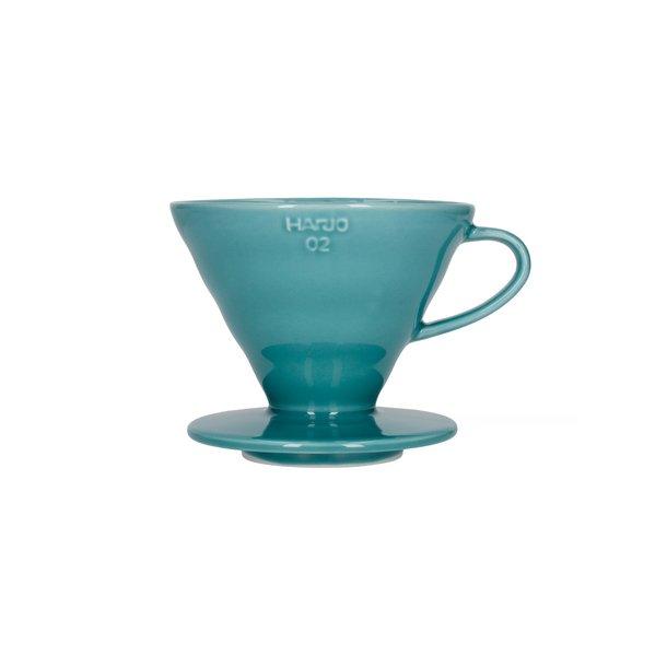 Hario V60 Filterholder Turkis Grøn Keramik 2-kop VDC-02-TQ-UEX